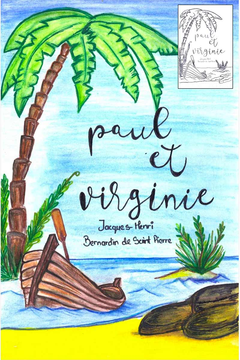 "Book cover design for ""Paul et Virginie"""